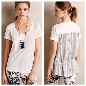 Little Yellow Button Contrast Cinched Tee SP